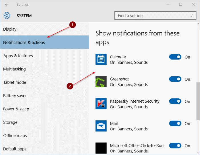 Windows 10'da Bildirim Sesini Devre Dışı Bırakma adım3
