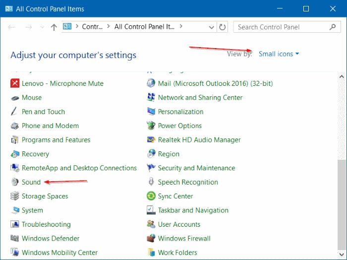Windows 10'da Bildirim Sesini Devre Dışı Bırakma adım6