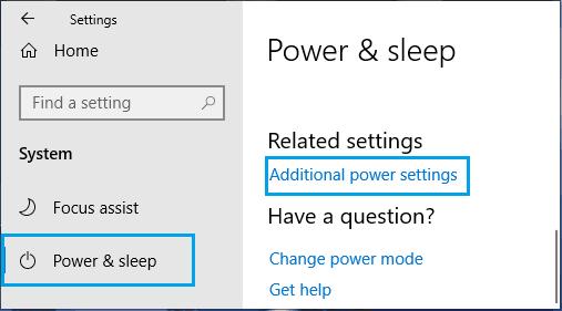 Windows PC'de Ek Güç Ayarları Seçeneği