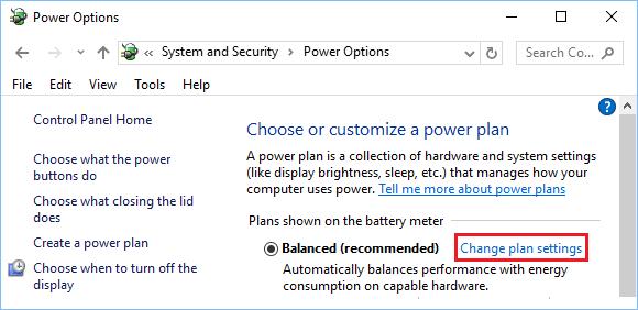 Windows PC'de Güç Planı Ayarlarını Değiştir