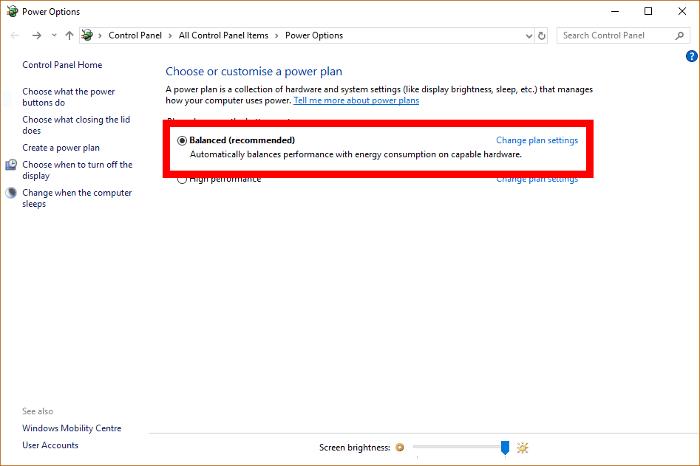 100 CPU Kullanımı Windows 10 Güç Planlarını Düzeltme