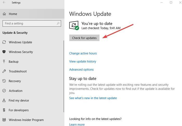 Fix Kopyala Yapıştırma Çalışmıyor Windows Ayarları Güncellemesi Ve Güncellemeleri Güvenlik Kontrolü