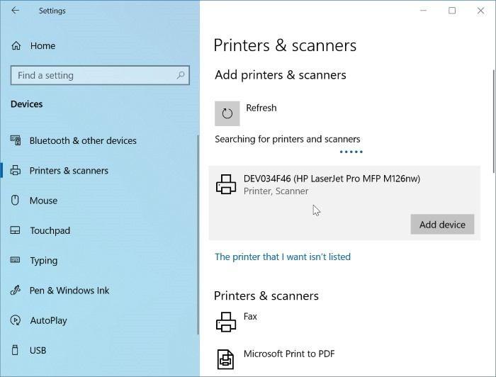 Yazıcı Windows 10 Pic4'te çevrimdışı