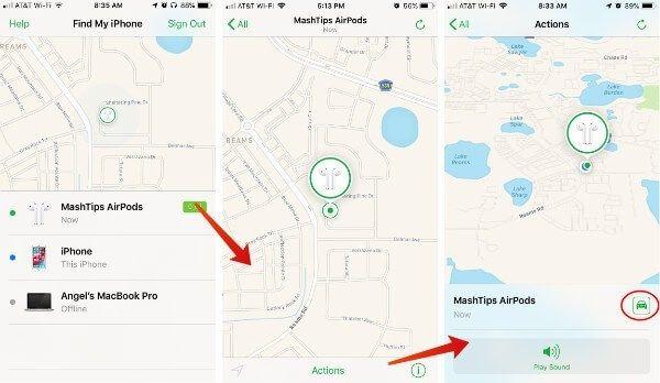 AirPod'ları Bulun iPhone Haritamı Bulun