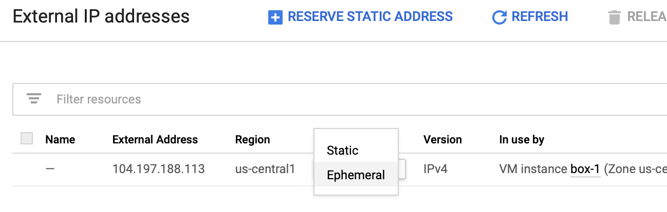 Google Cloud IP Adresi