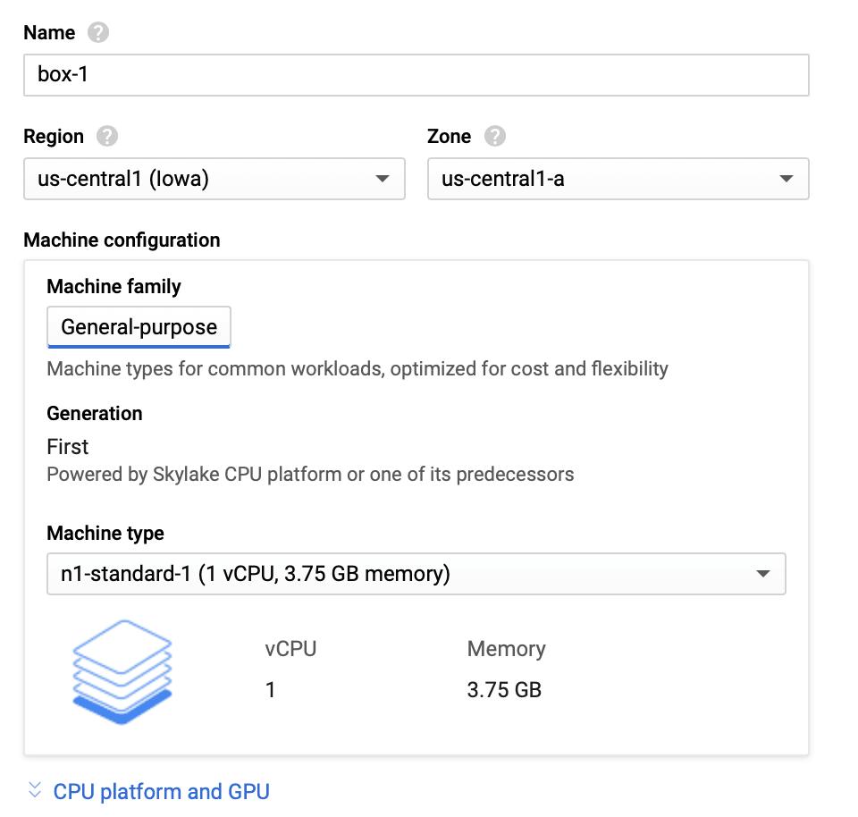 Google Cloud VM örneği kurulumu