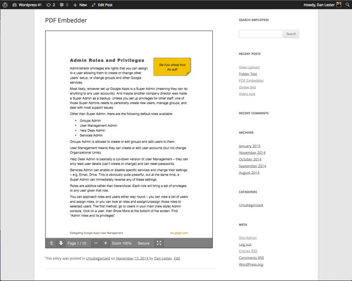 WordPress Mesajlarında PDF Dosyalarını Gömme (2019) 6