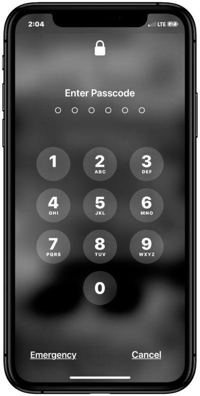 İPhone veya iPad'de şifre kilit ekranı