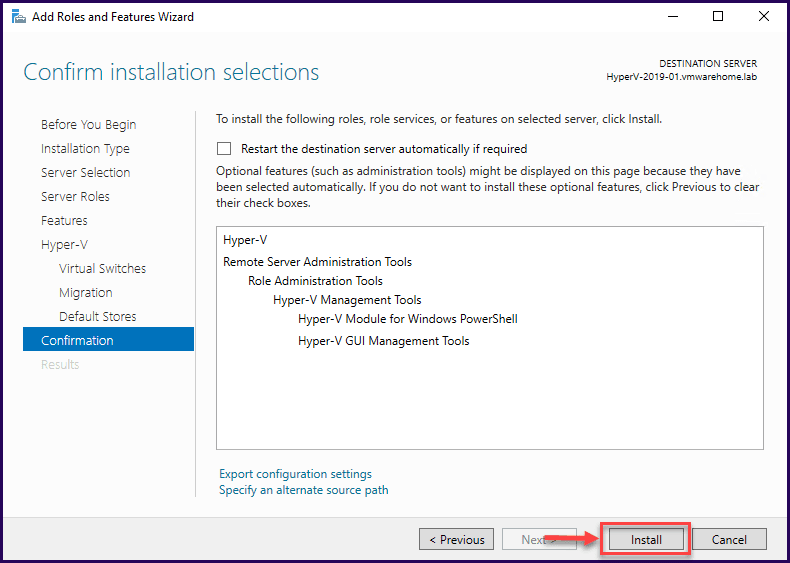 Windows Server 2019'da Hyper-V'yi Yapılandırma