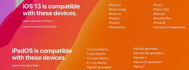 iOS 13 ve iPadOS için ideal uyumluluk