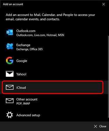 Kullanım-an-icloud hesap-in-ms-posta