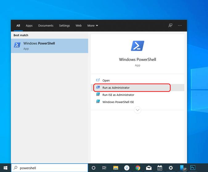 windows-powershell işletilen-as-yönetici