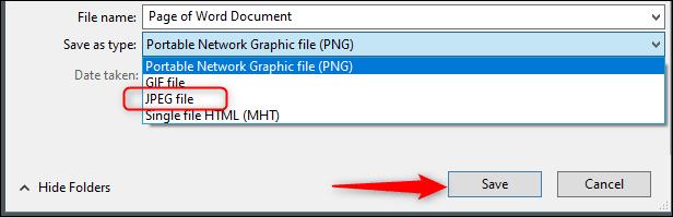 JPEG olarak kaydet