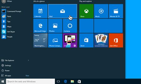 Windows 10 Posta'yı açın