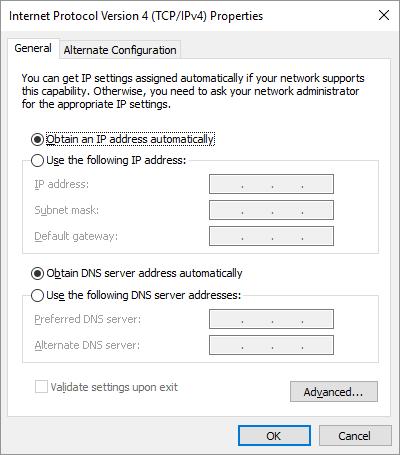 IP sürüm 4 Windows