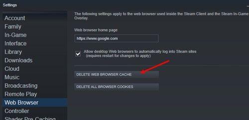 Steam_delete_browser_cache