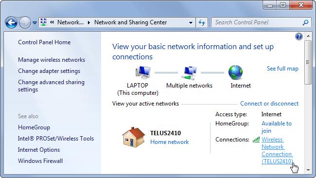 view-ağ bağlantısı durumu pencereler