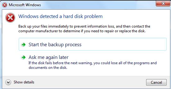 Windows Tespit Edilen Sabit Disk Sorunu