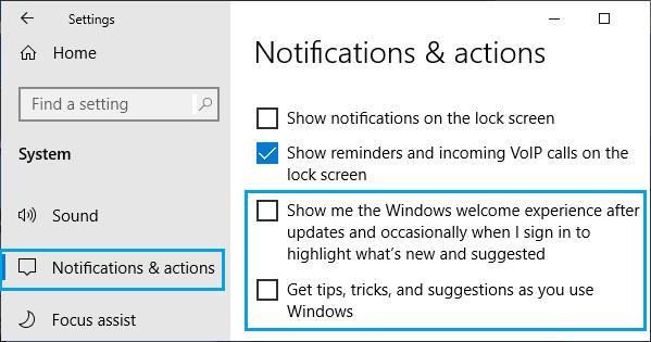 Microsoft Bildirimlerini Devre Dışı Bırak