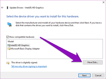 Düzeltilen sürücü bu bilgisayar için doğrulanmadı windows 10 05