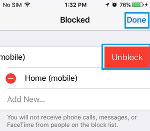 İPhone'da Birinin Engelini Kaldırın