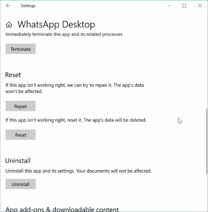 whatsapp masaüstü pic4 açılmıyor veya çalışmıyor