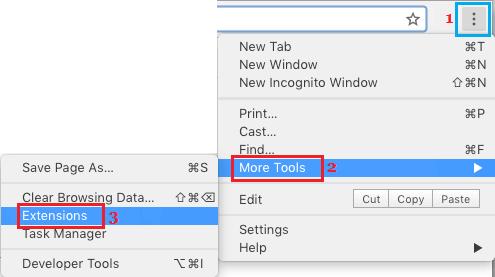 Chrome Uzantıları Sayfasını Aç
