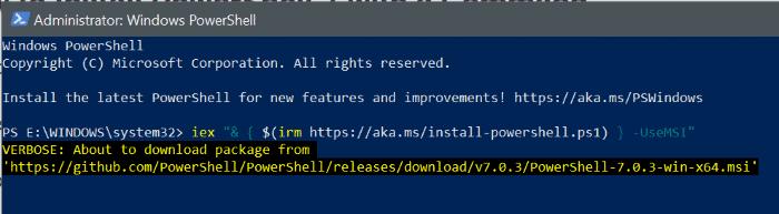 powershell 7'yi Windows 10 pic5'e yükle