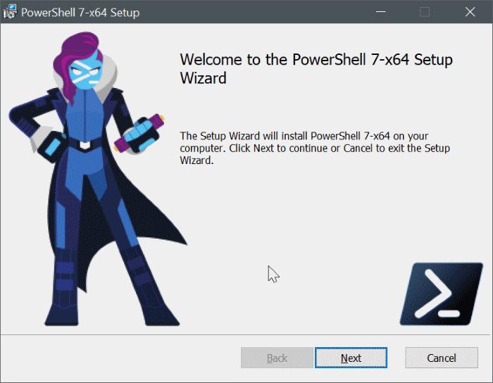 Windows 10 pic7 üzerine powershell 7'yi yükleyin