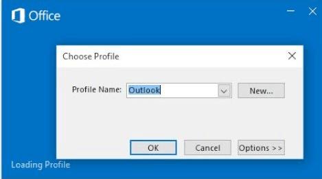 outlook profili Windows 10'da açılmıyor
