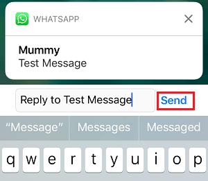 İPhone'daki Bildirimden WhatsApp Mesajı Yanıtla