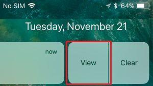 İPhone'da Bildirim Seçeneğini Görüntüle