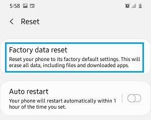 Android Telefonu Fabrika Ayarlarına Sıfırlama