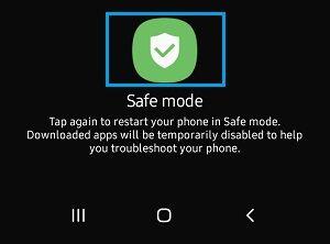 Android Telefonda Güvenli Mod İstemi