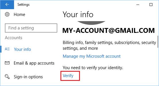 Microsoft Hesabını Doğrulayın