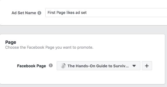 Hangi Facebook Sayfasını tanıtmak istediğinizi seçme seçeneği