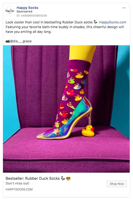 Mutlu Çoraplar Facebook resim reklamı