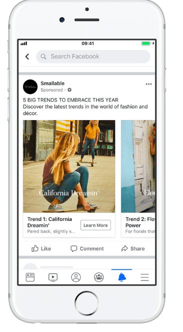 Smallable'dan Facebook dinamik reklamı