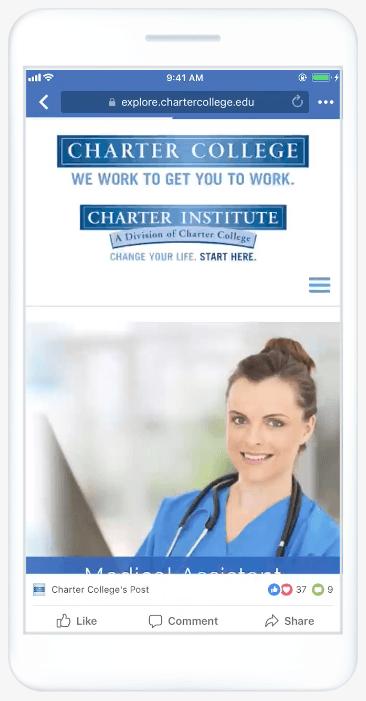 Mobil cihazda Facebook slayt gösterisi reklamı