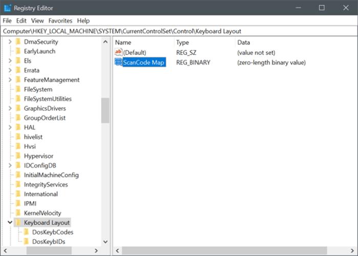 Windows 10 pic4'te capslock anahtarını devre dışı bırak
