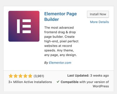 WordPress panosuna Elementor nasıl kurulur