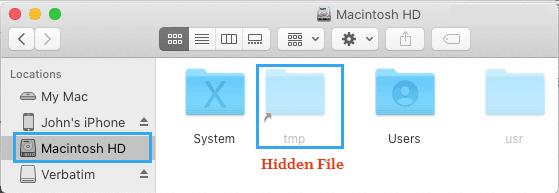 Mac'te Gizli Dosyaları Göster