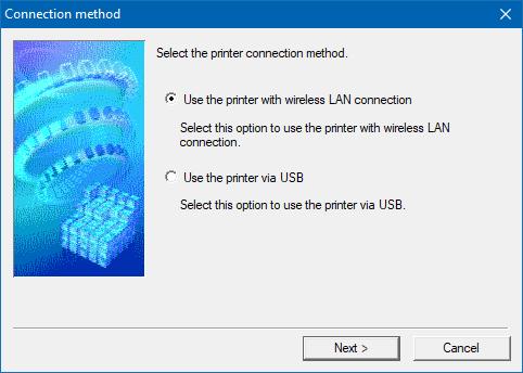 Kablosuz bir yazıcının kurulum yazılımı