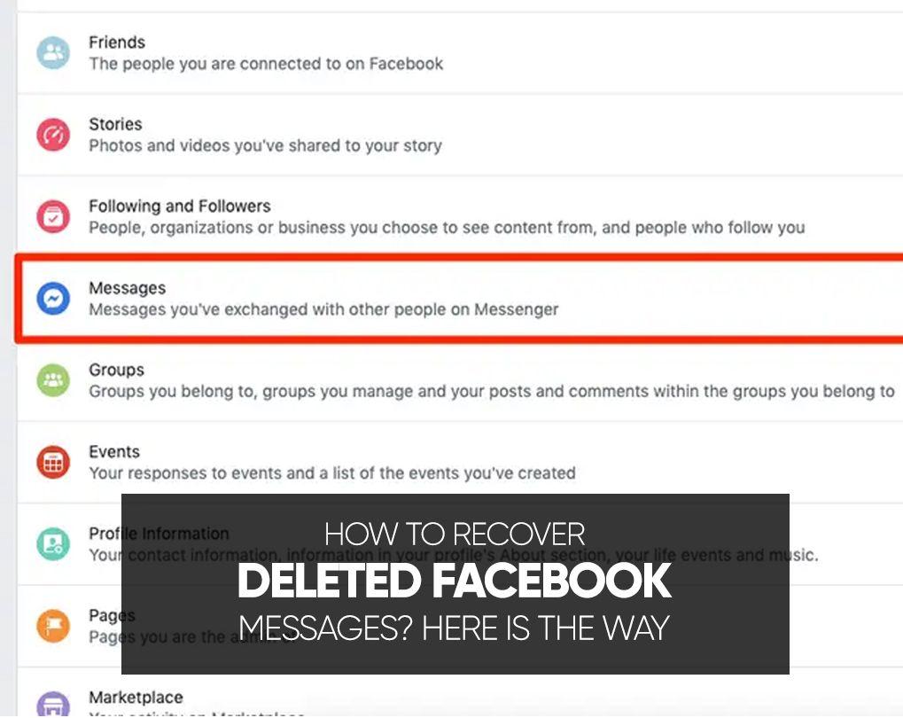 Silinmiş Facebook Mesajları Nasıl Kurtarılır