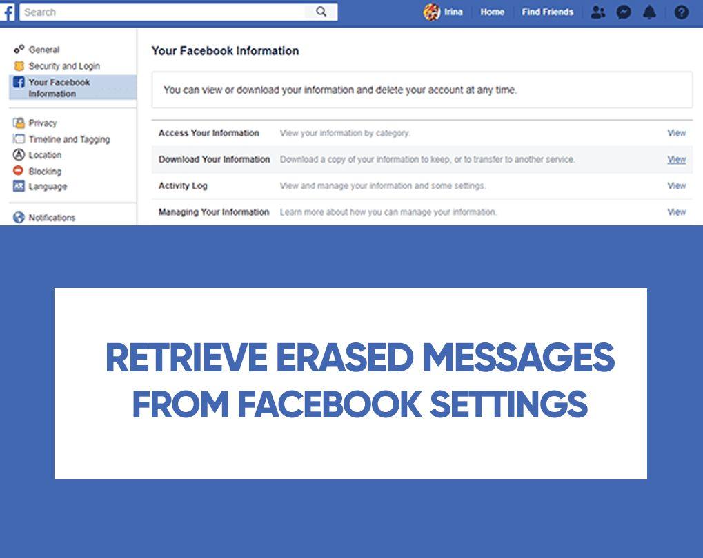 Facebook Messenger'da Kalıcı Olarak Silinmiş Mesajlar Nasıl Kurtarılır