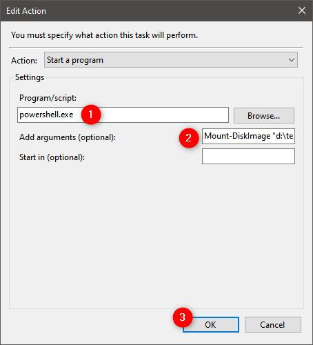 Bir VHD nasıl kalıcı olarak eklenir: Mount-DiskImage'ı çalıştırmak için PowerShell'i kullanın