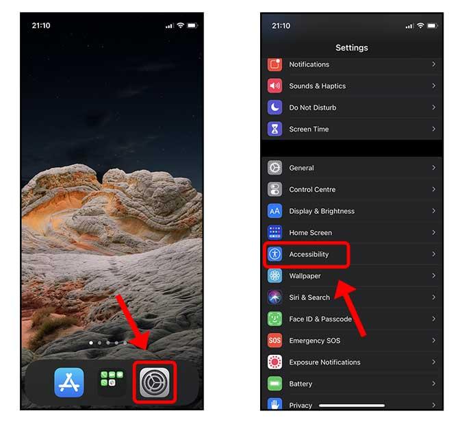iphone'da erişilebilirlik ayarları