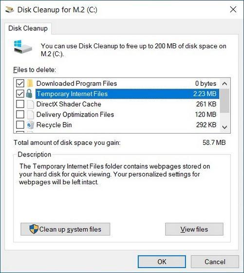 Windows 10'da Geçici Dosyaları Silme