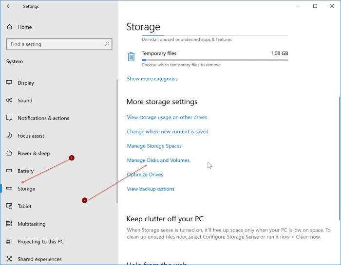 Windows 10 pic1'de SSD sağlığını ve sıcaklığını kontrol edin