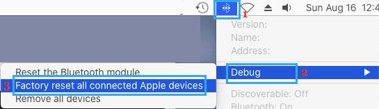 Mac'te Bluetooth Cihazlarını Fabrika Ayarlarına Sıfırlama